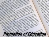 Promotion of Education